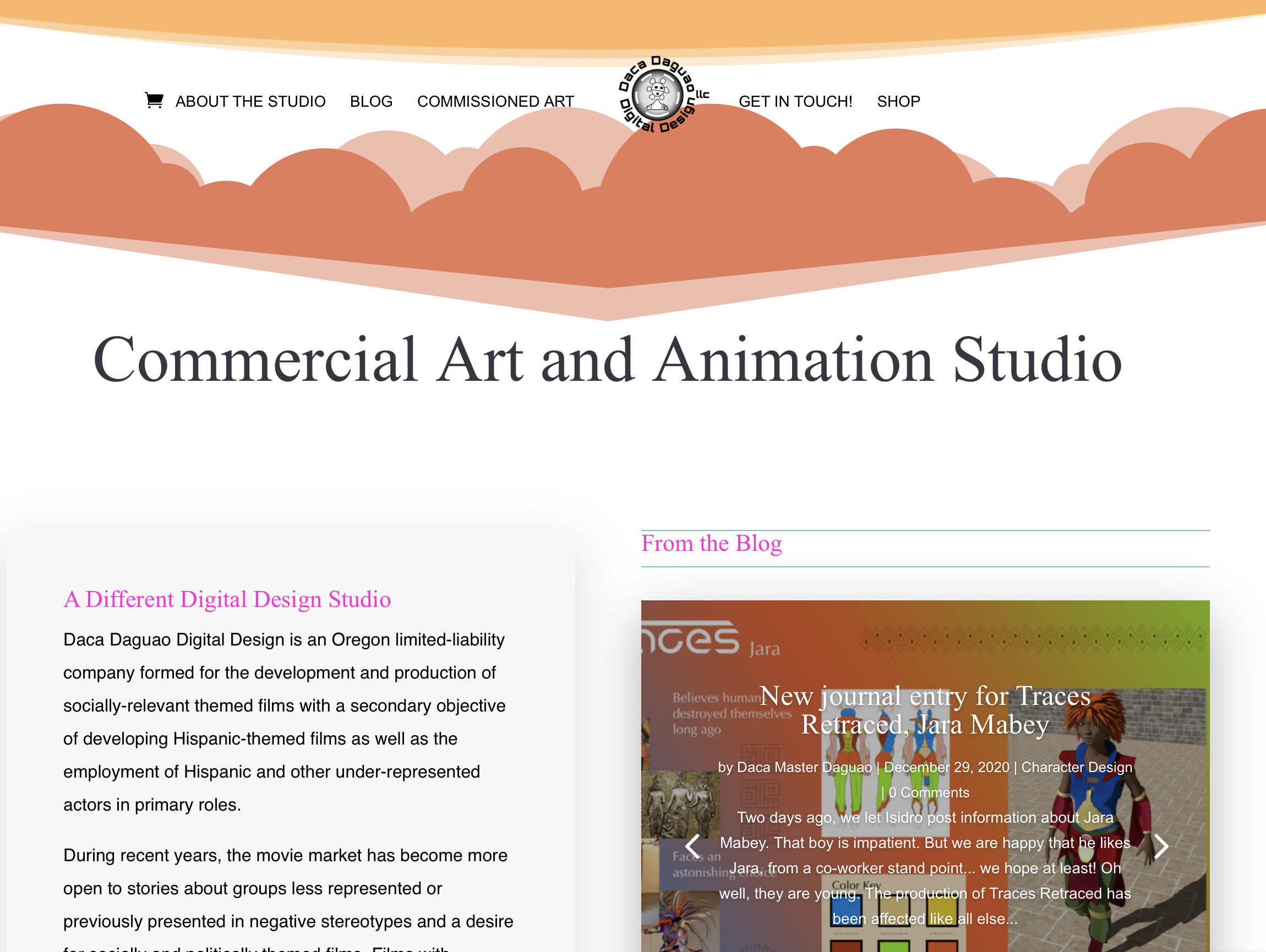 The Company Daca Daguao Digital Design, LLC homepage screenshot.