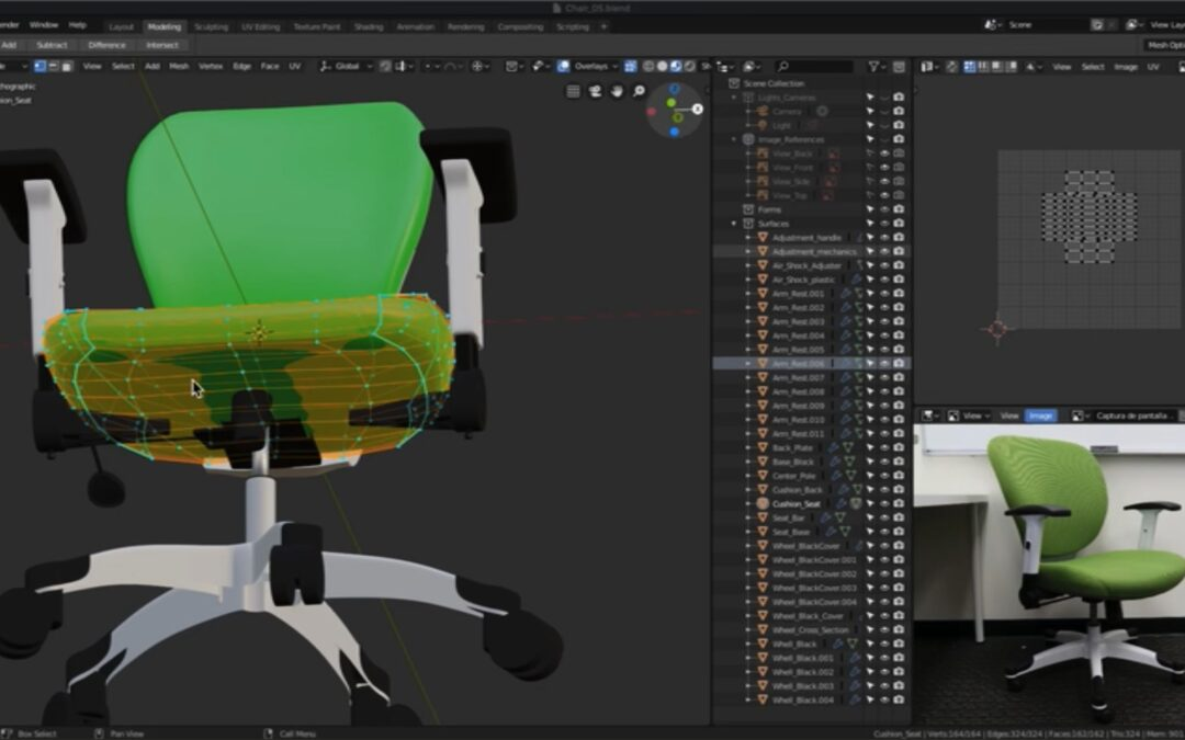 Office chair visualization – more videos added