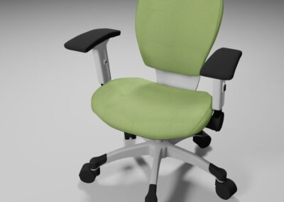 3D Office Chair – Efficient Modeling and Rendering
