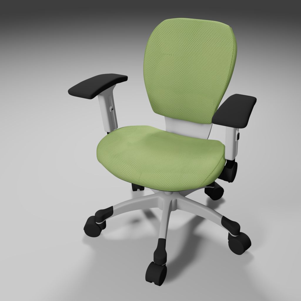 3D Office Chair Final Rendered Image